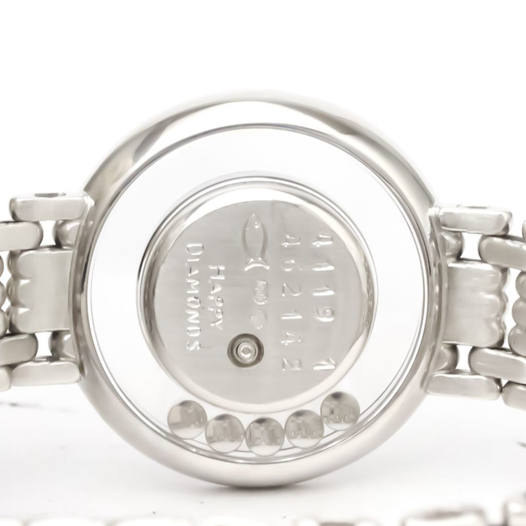 ショパール(Chopard) ハッピーダイヤモンド クォーツ K18ホワイトゴールド(K18WG) レディース ドレスウォッチ 4119