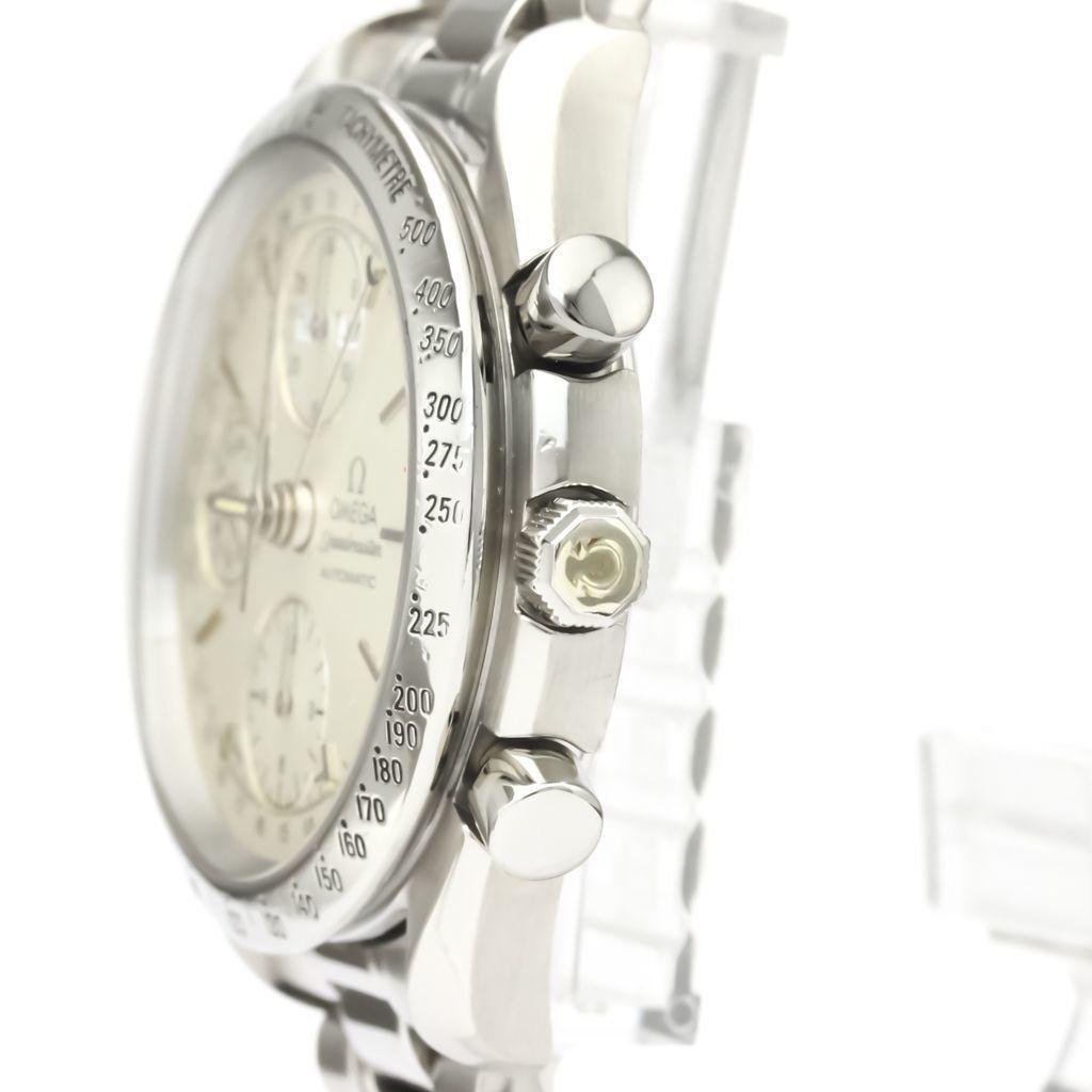 Polished OMEGA Speedmaster Triple Date Steel Automatic Watch 3521.30 BF530573