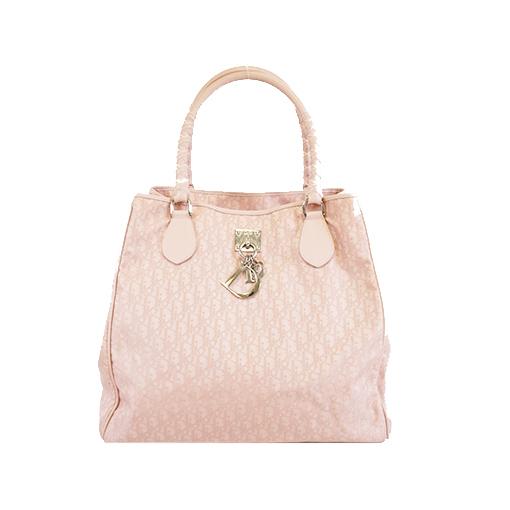 Auth Christian Dior Trotter Handbag Women's Canvas Handbag,Shoulder Bag,Tote Bag Pink