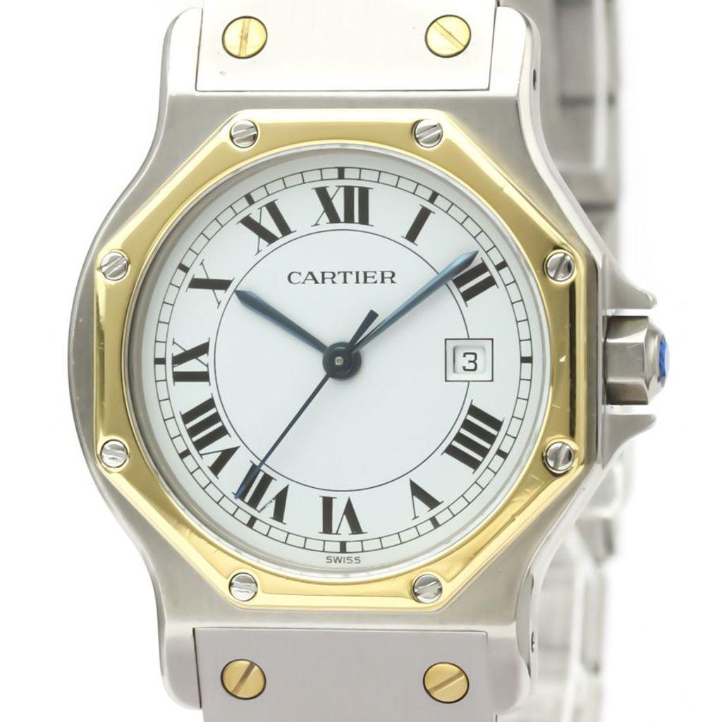 Cartier Santos Octagon Automatic Yellow Gold (18K),Stainless Steel Women's Dress Watch