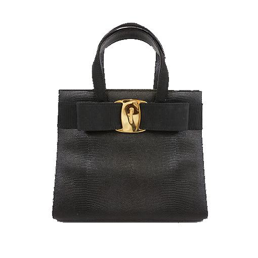 Auth Salvatore Ferragamo Handbag Women's Leather Handbag Black