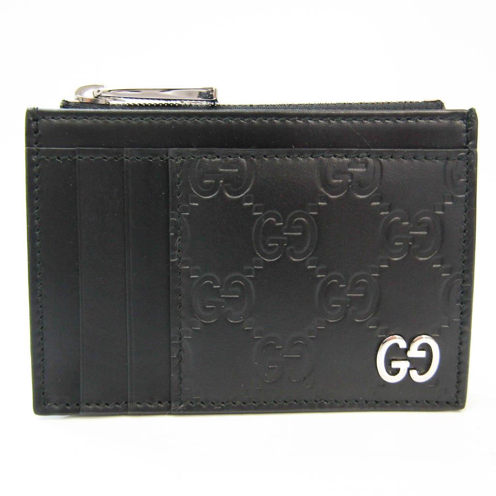 グッチ(Gucci) シグネチャー 597560 レザー カードケース ブラック