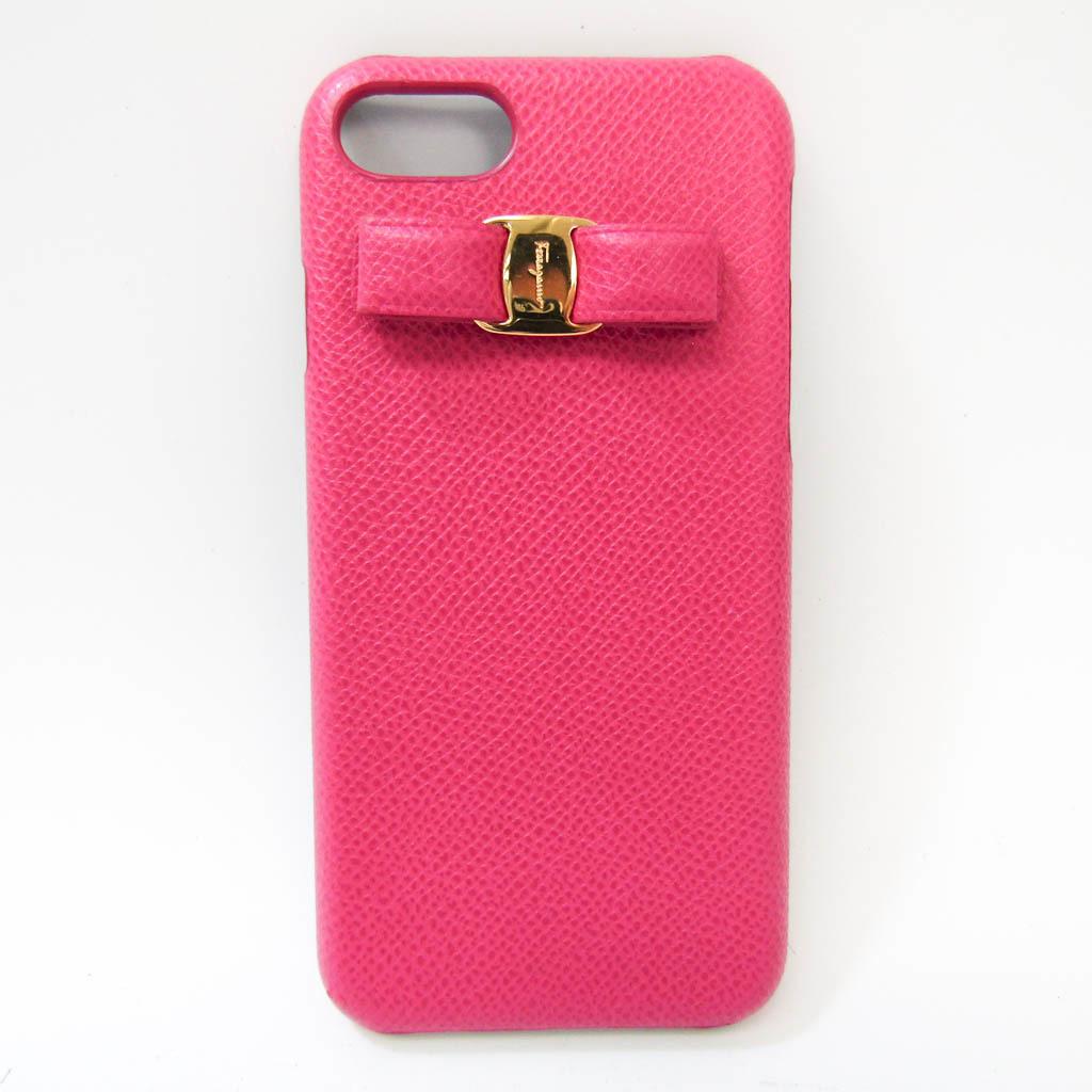 サルヴァトーレ・フェラガモ(Salvatore Ferragamo) ヴァラリボン KP-22D599 レザー バンパー iPhone 7 対応 ピンク