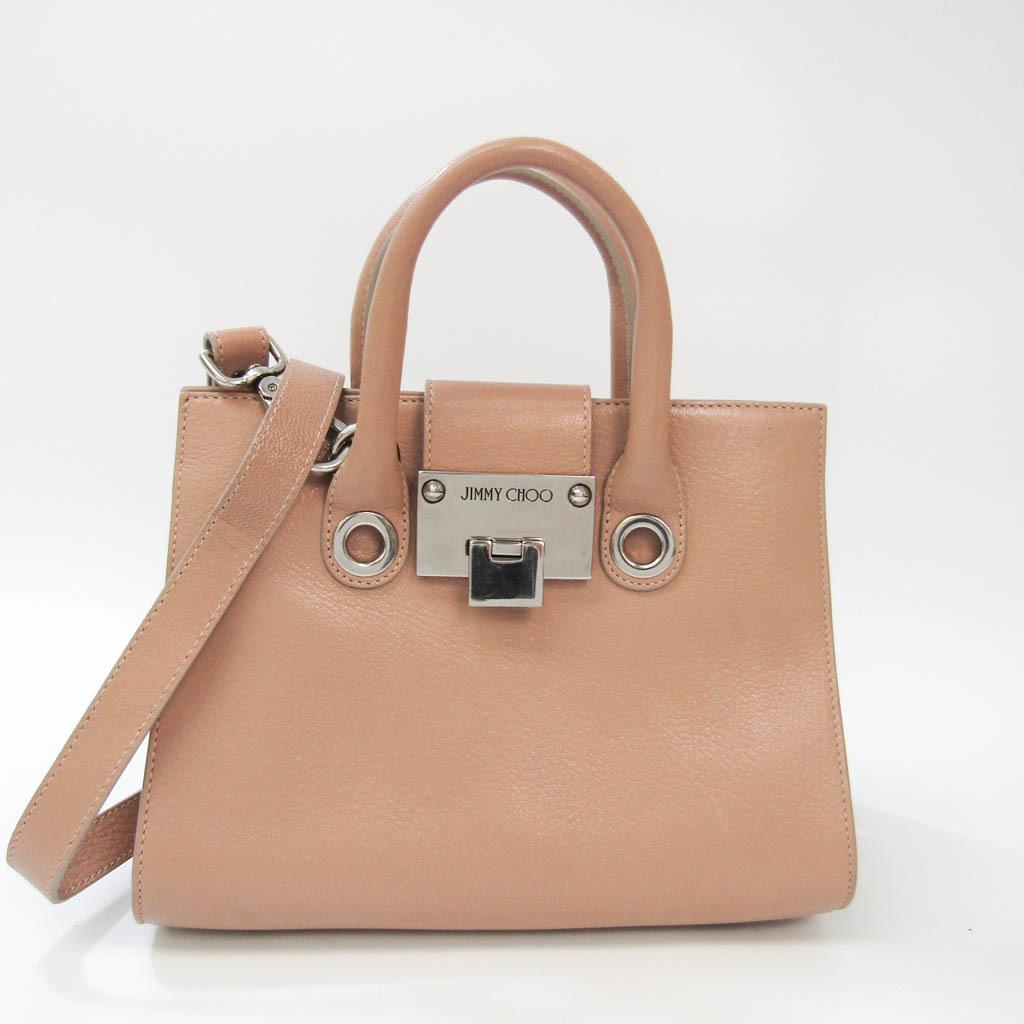 Jimmy Choo RILEY S Women's Leather Handbag,Shoulder Bag Beige Pink