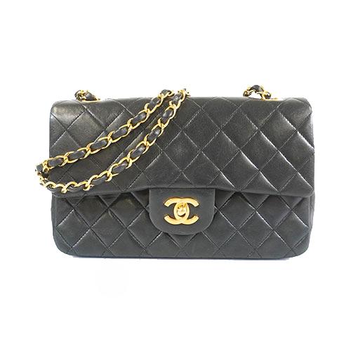 Auth Chanel Matelasse Paris Only W Flap W Chain Shoulder Bag Women's Leather Shoulder Bag Black