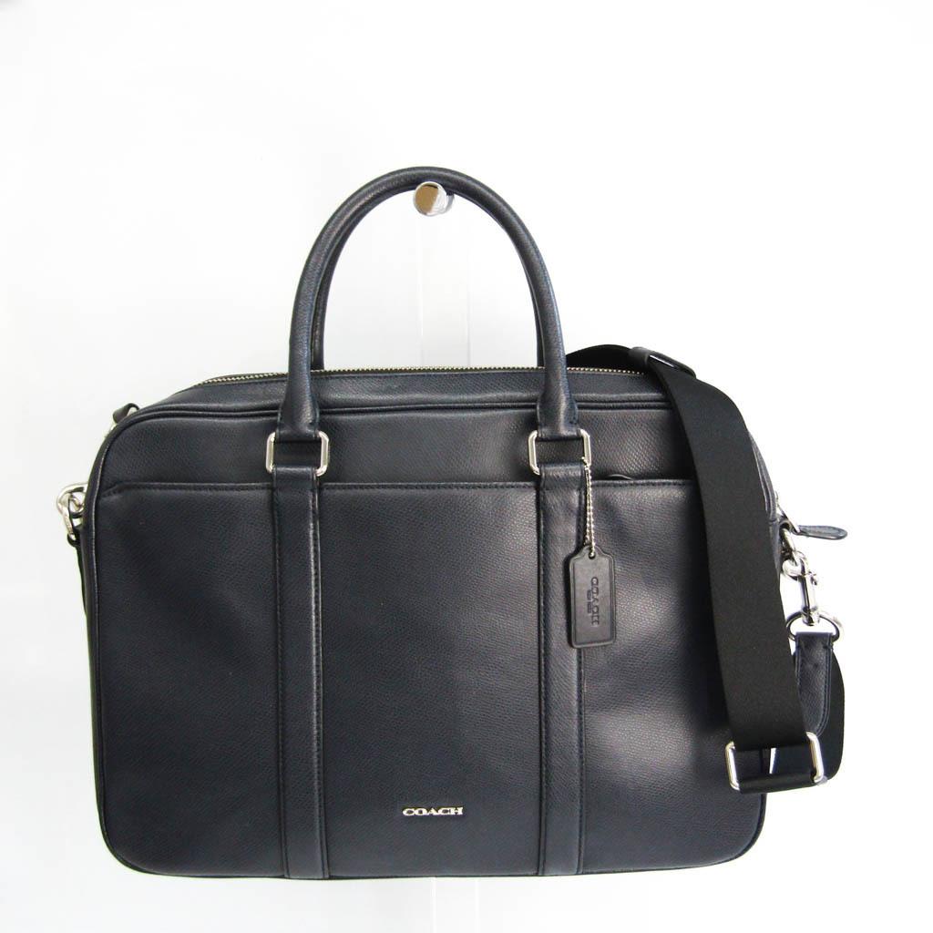 Coach F71681 Men's Leather Briefcase,Shoulder Bag Navy
