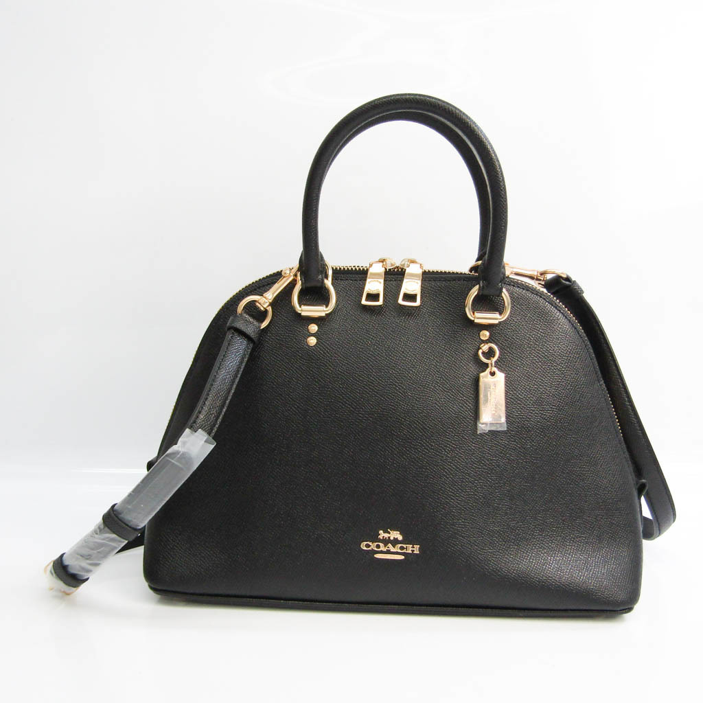 Coach Katie Satchel 2553 Women's Leather Handbag,Shoulder Bag Black