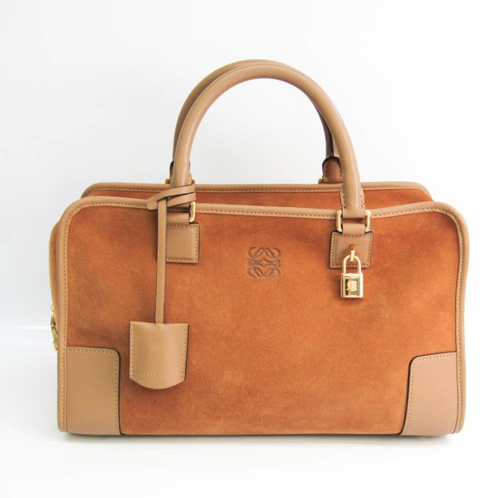 Loewe Amazona 32 Women's Leather,Suede Handbag Camel