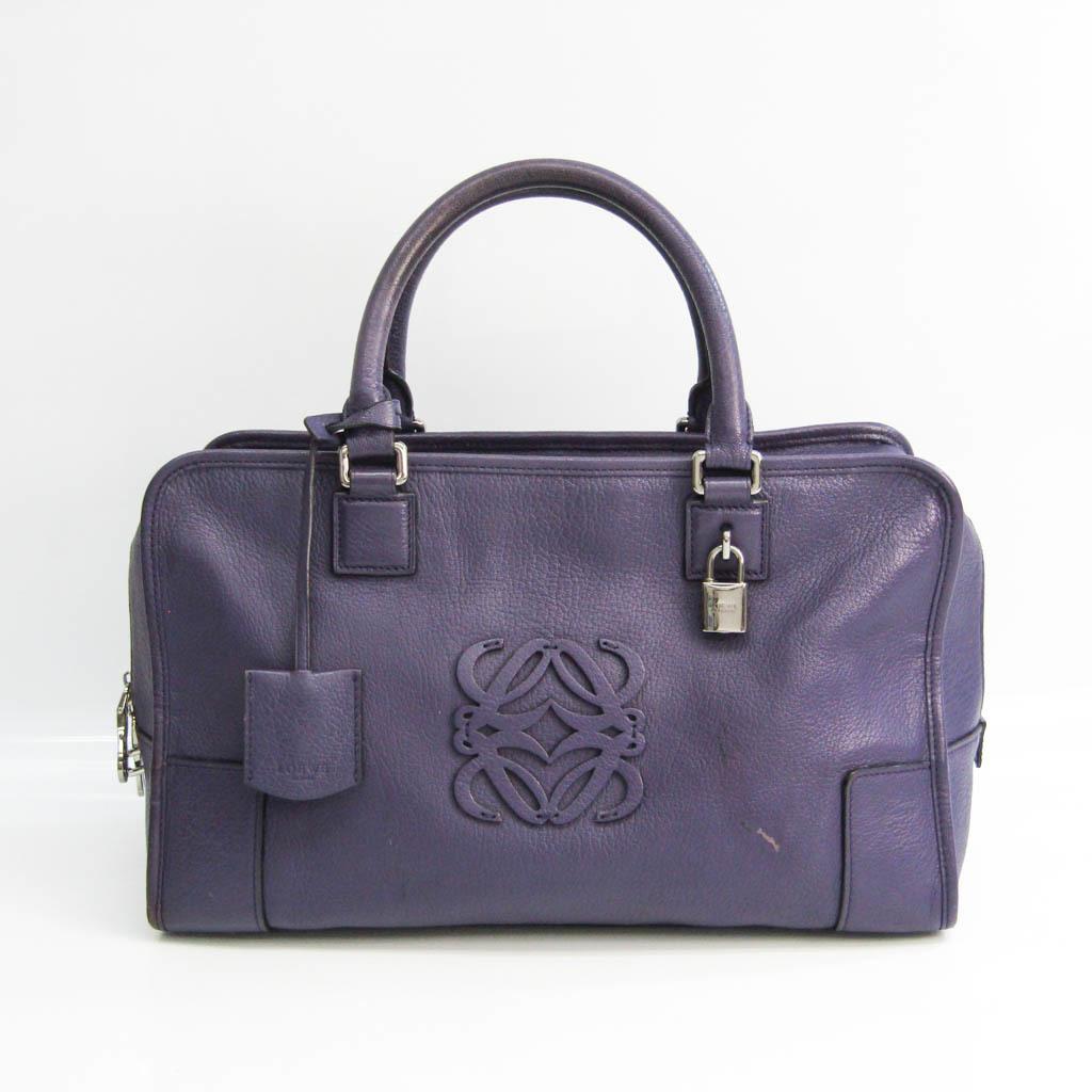 Loewe Amazona 32 Women's Leather Handbag Purple