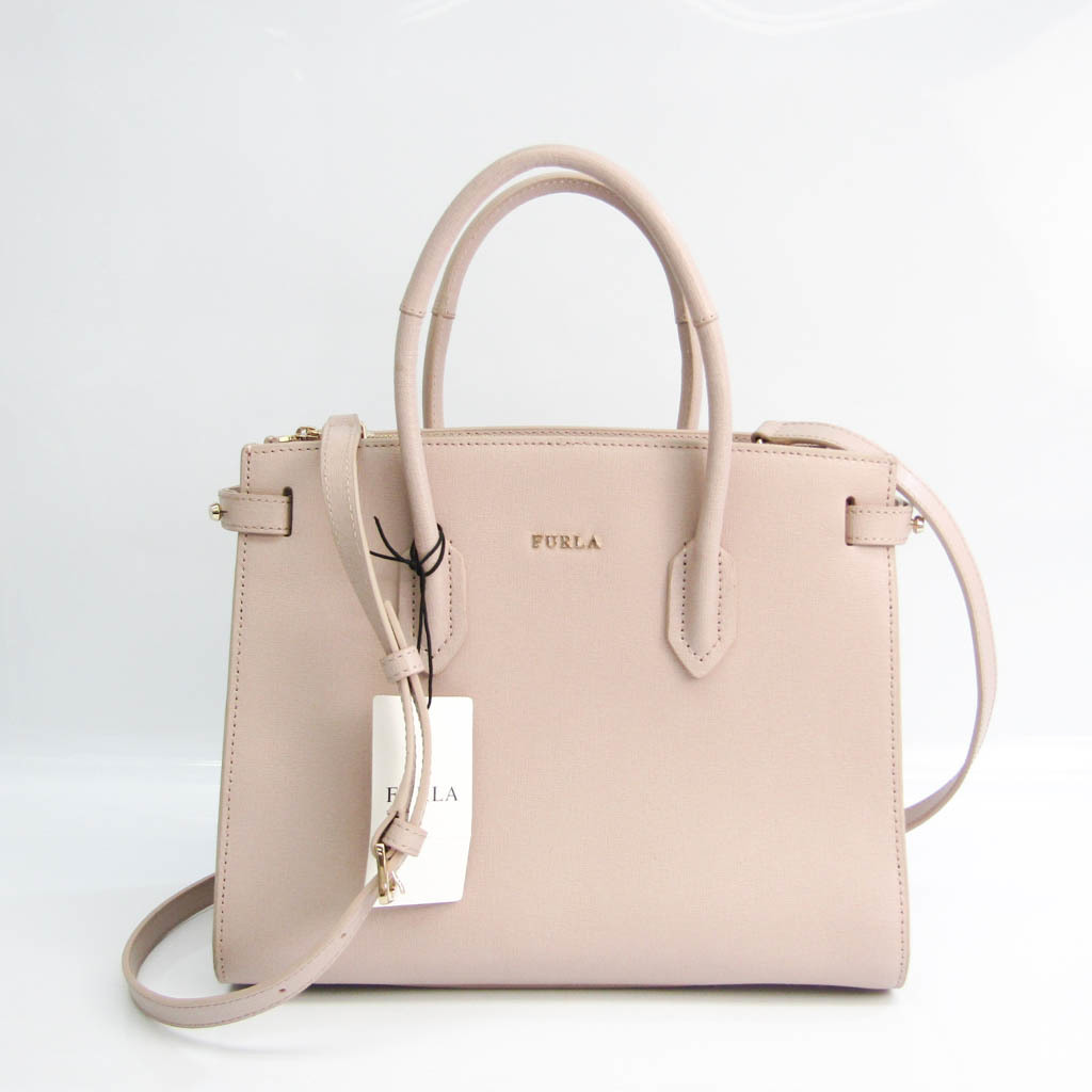 Furla PIN S TOTE 994199 Women's Leather Handbag,Shoulder Bag Beige Pink