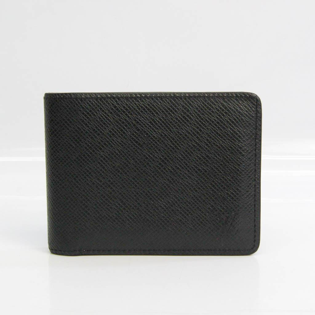 Louis Vuitton Taiga Multiple-wallet M30531 Men's Taiga Leather Bill Wallet (bi-fold) Noir