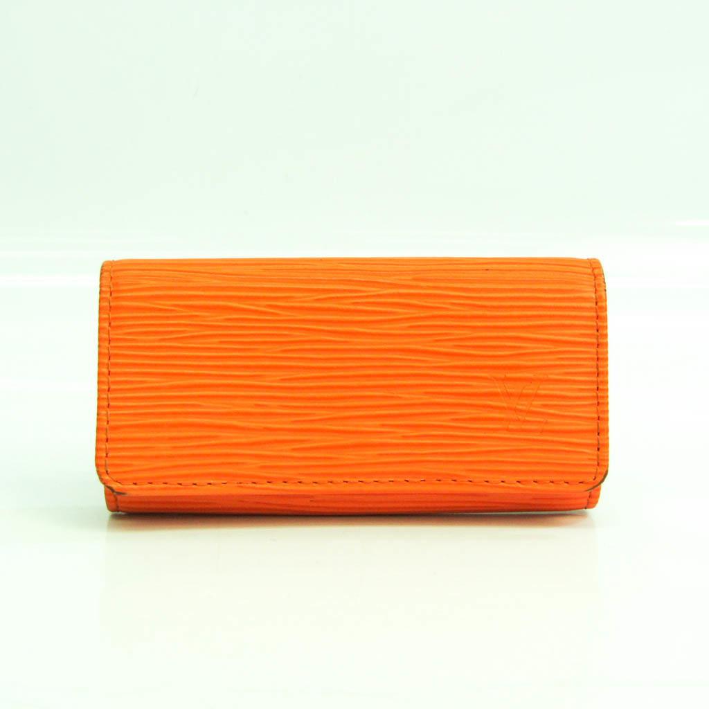 Louis Vuitton Epi Multicles 4 M6382H Unisex Epi Leather Key Case Mandarin