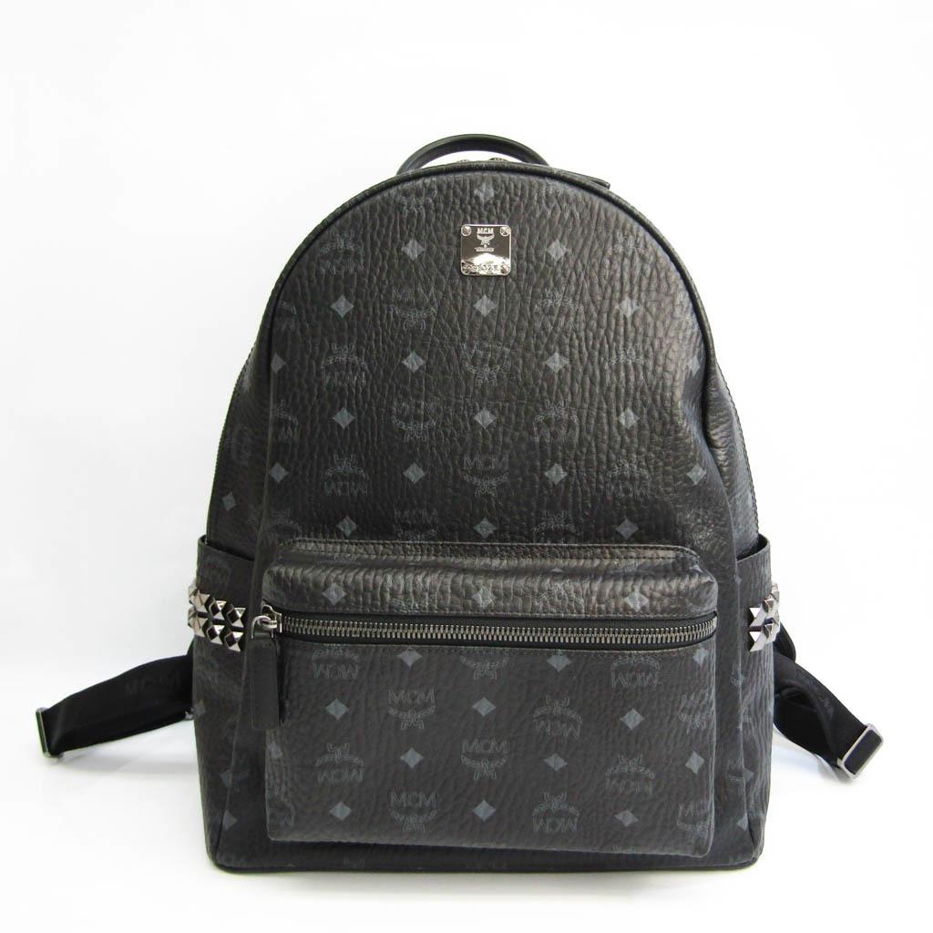MCM Visetos MMK6SVE38BK001 Unisex Leather,PVC Backpack Black,Gray