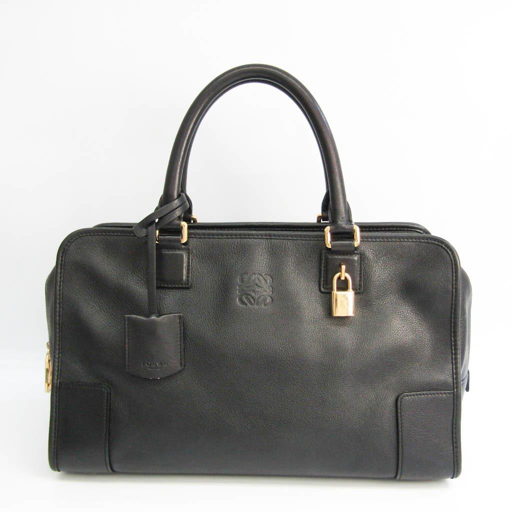 Loewe Amazona 32 Women's Leather Handbag Black