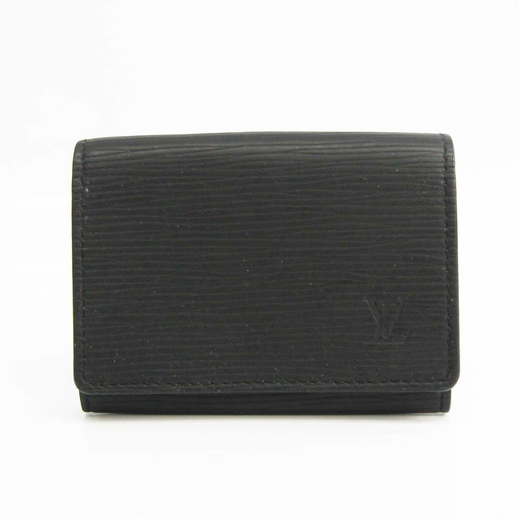 Louis Vuitton Epi Amberop Carte De Visit M60652 Epi Leather Card Case Noir