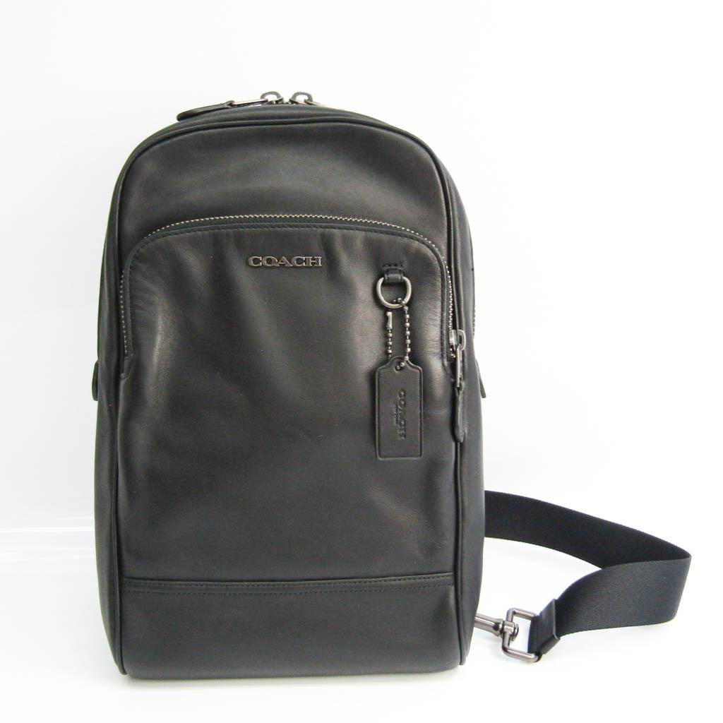 Coach GRAHAM 89934 Men's Leather Shoulder Bag,Sling Bag Black