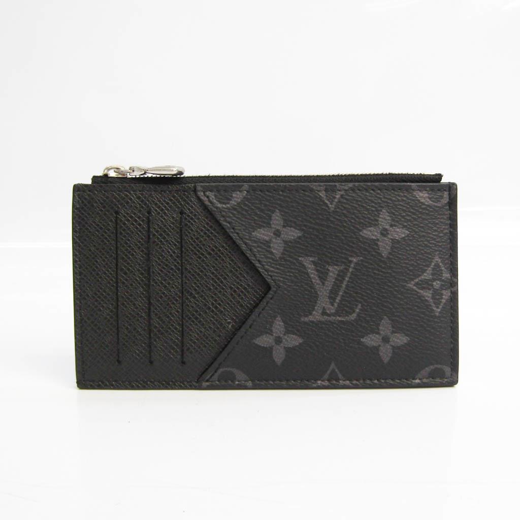 Louis Vuitton Taiga Coin Card Holder M30271 Men's Taiga Leather,Monogram Eclipse Card Wallet Monogram Eclipse,Noir