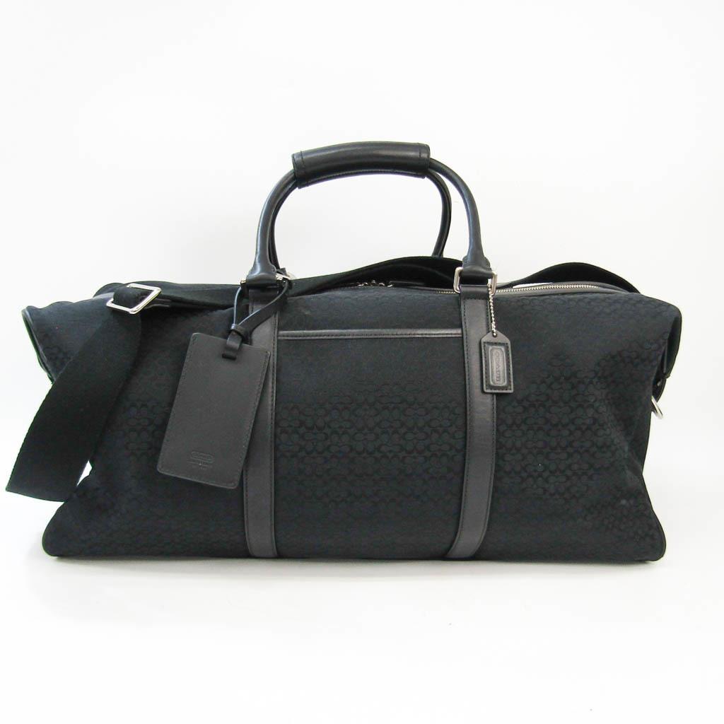 Coach Mini Signature F77013 Unisex Leather,Canvas Boston Bag
