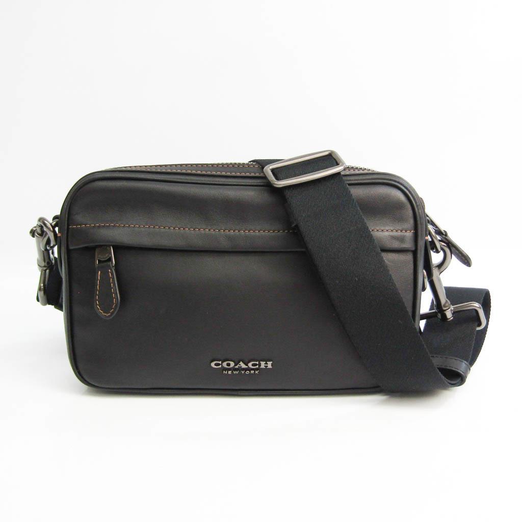 Coach Graham Crossbody F39946 Unisex Leather Shoulder Bag Black