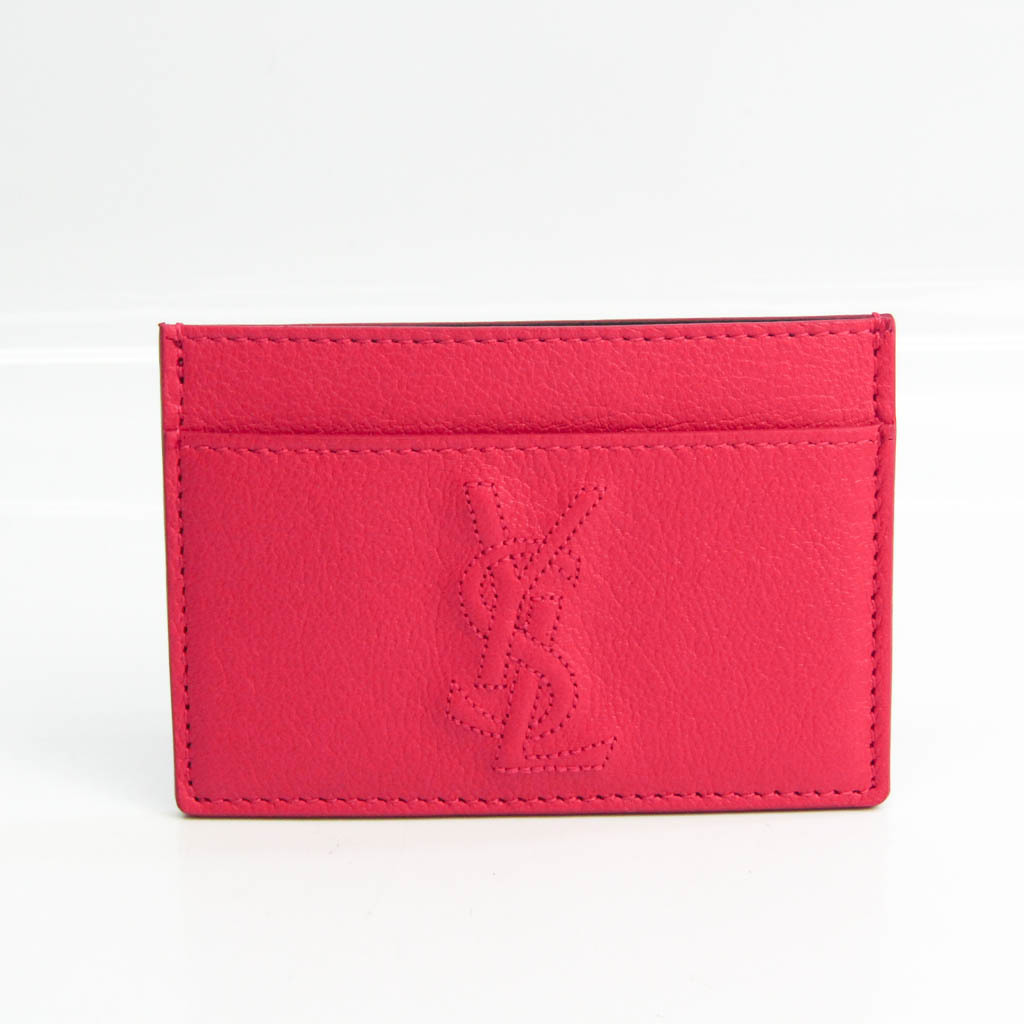 Yves Saint Laurent 352908 Leather Card Case Pink