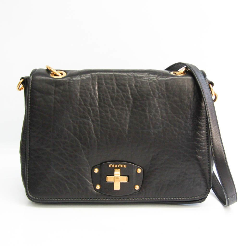 Miu Miu Women's Leather Shoulder Bag Black