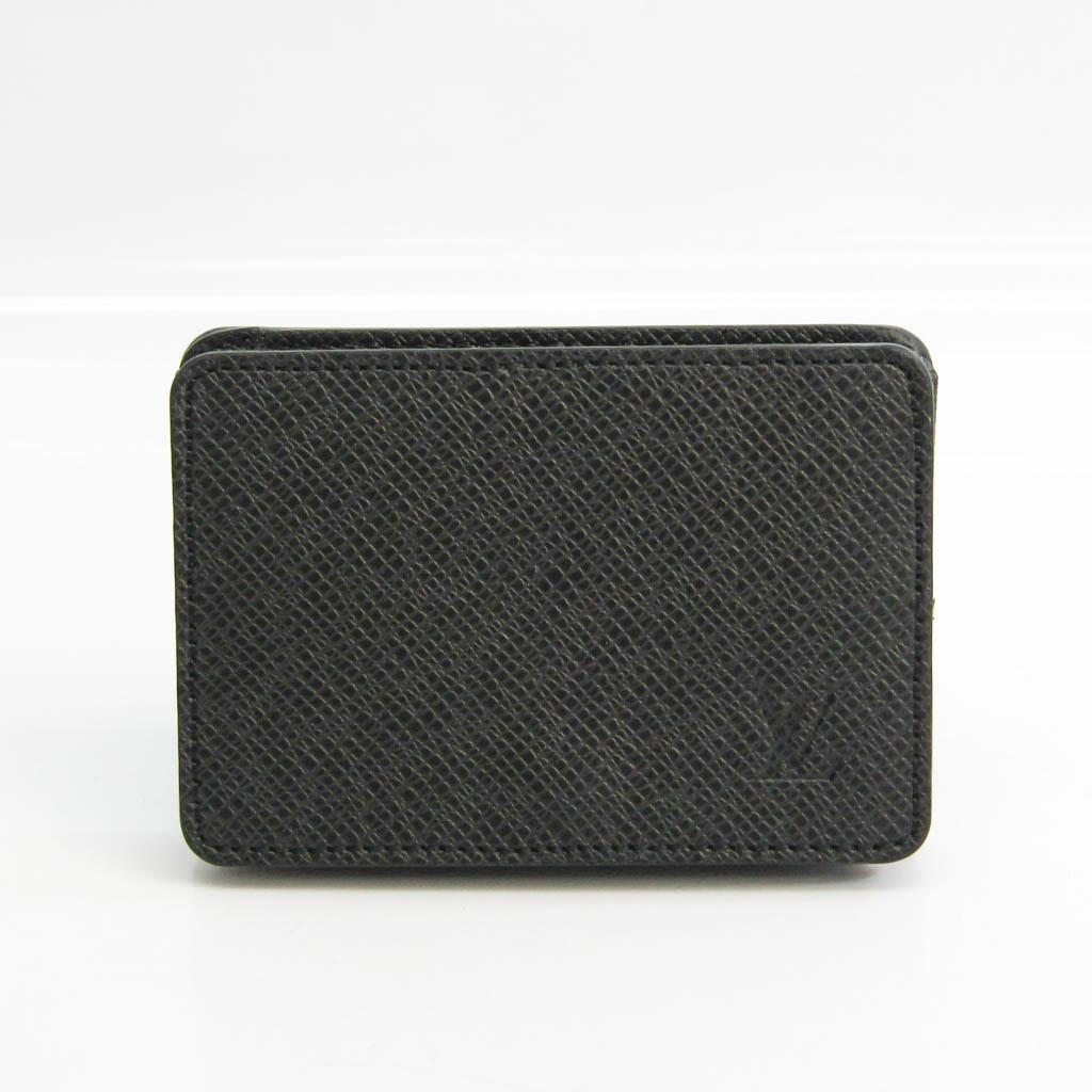 Louis Vuitton Taiga Coin Purse M30598 Men's Taiga Leather Coin Purse/coin Case Noir