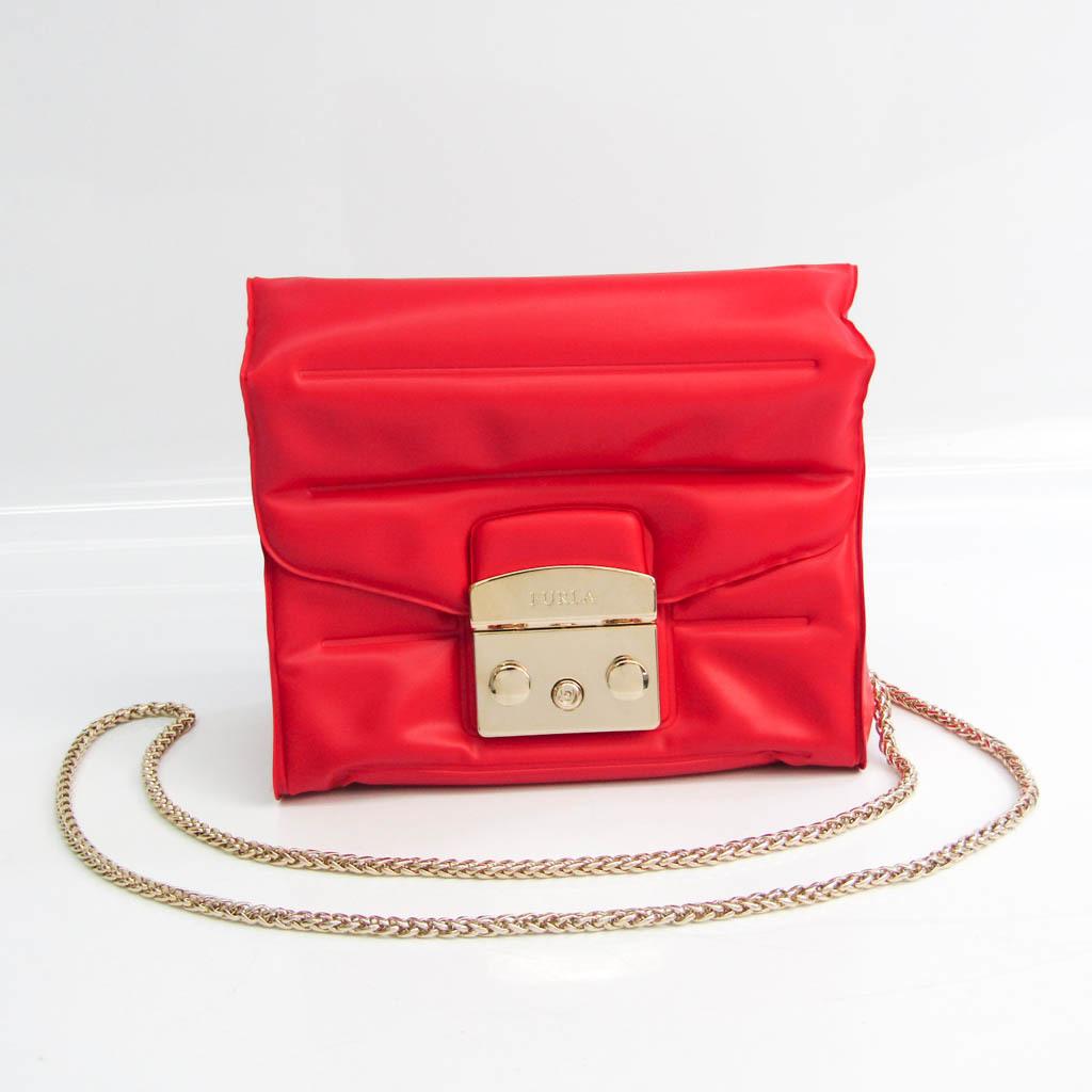 Furla Metropolis OXYGEN MINI 870779 Women's PVC Shoulder Bag Red Color