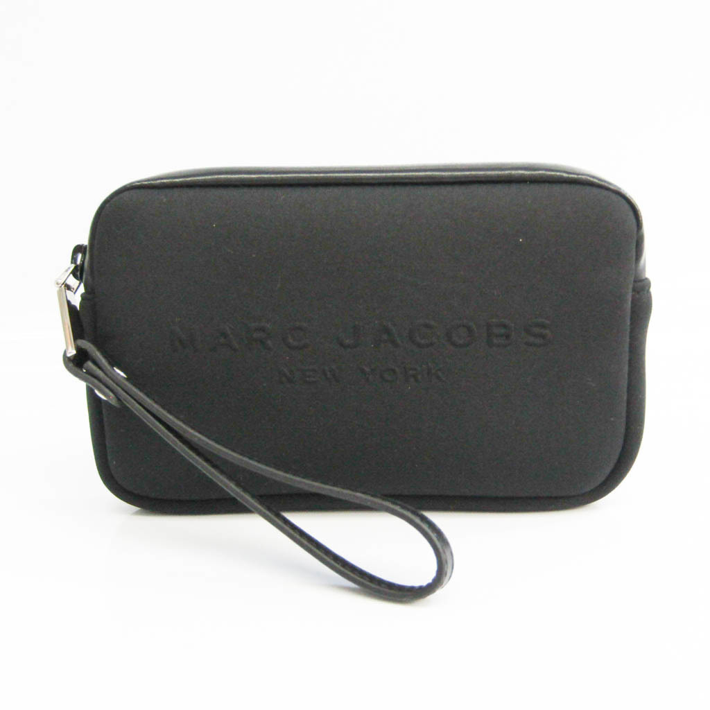 Marc Jacobs Neoprene Universal Tech Case M0008417 Unisex Polyester,Leather Pouch Black
