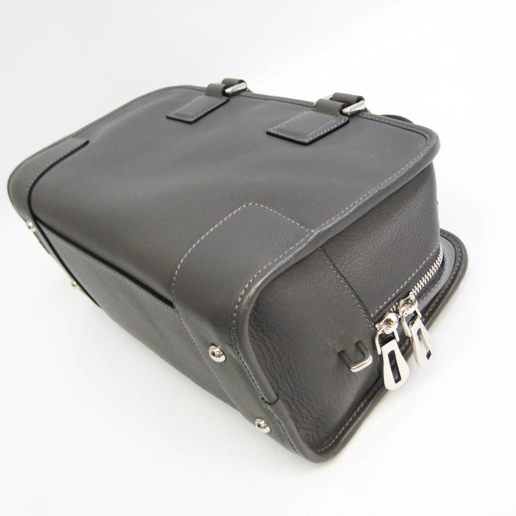 Loewe Amazona 28 Women's Leather Handbag Dark Gray