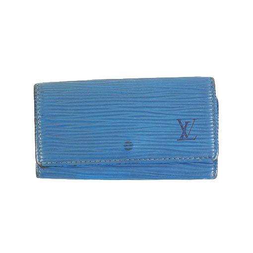 Auth Louis Vuitton Epi Multicles 4 M63825 Men,Women,Unisex  Key Case Toledo Blue