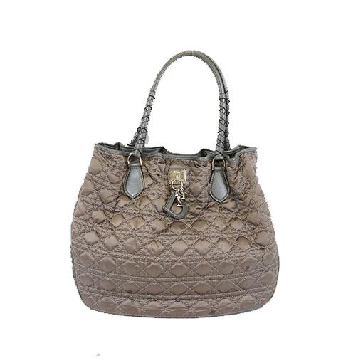 Auth Christian Dior Canage Handbag Handbag Women's Nylon Handbag,Shoulder Bag,Tote Bag Gray