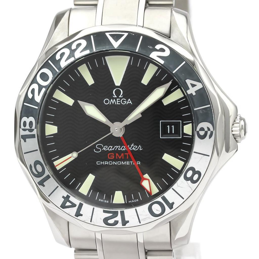 【OMEGA】オメガ シーマスター GMT 50周年記念 ステンレススチール 自動巻き メンズ 時計 2234.50