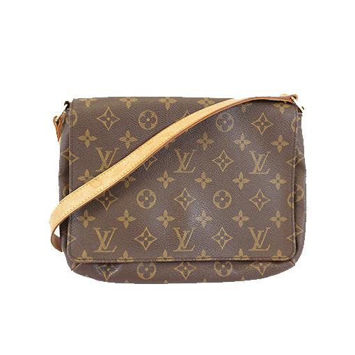 Auth Louis Vuitton Monogram Musette Tango Shoet Strap M51257 Women's Shoulder Bag