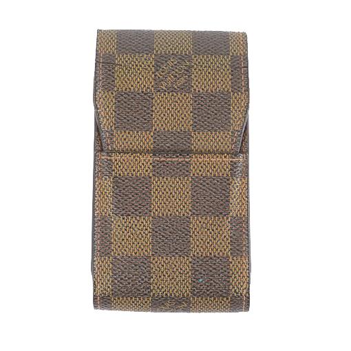 Auth Louis Vuitton Damier Etui Cigarette N63024 Cigarette Case