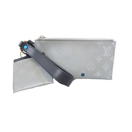 Auth Louis Vuitton Monogram Satellite Alpha M44178 Men's Pouch