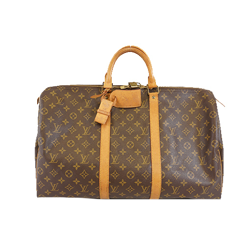 Auth Louis Vuitton Monogram Keepall50 M41426 Men,Women,Unisex Boston Bag Monogram