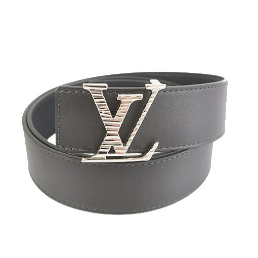 Auth Louis Vuitton Saint Tulle LV Initial Men's Belt Noir
