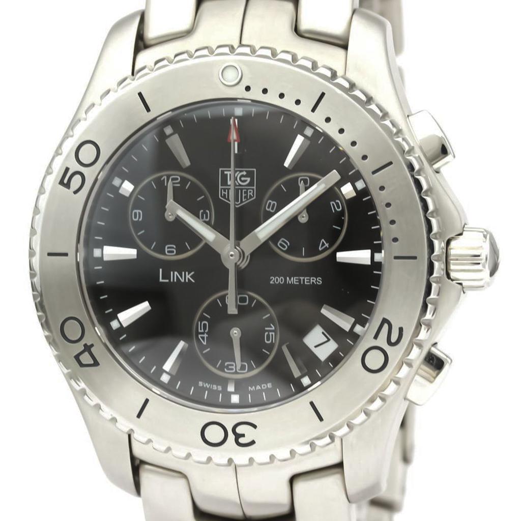【TAG HEUER】タグホイヤー リンク クロノグラフ ステンレススチール 自動巻き メンズ 時計 CJ1110