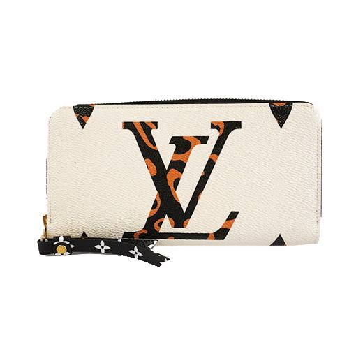 Auth Louis Vuitton MonogramJungle ZippyWallet M44745 Women's  Long Wallet
