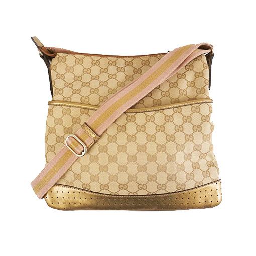 Auth Gucci GG Canvas 145857 Women's Shoulder Bag Beige