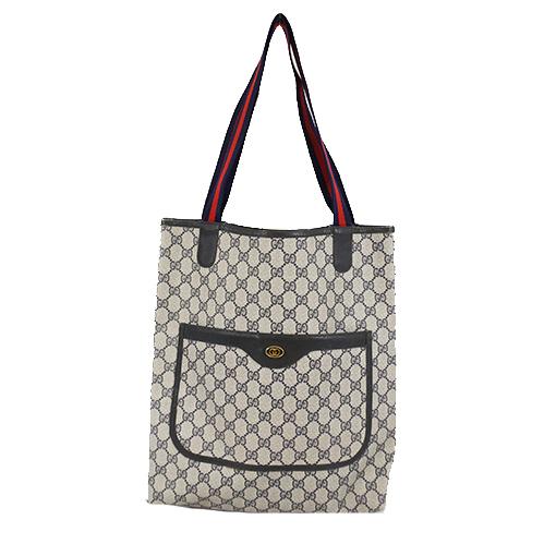 Auth Gucci Tote Bag 39 02 003 Women's GG Supreme Handbag,Tote Bag Navy