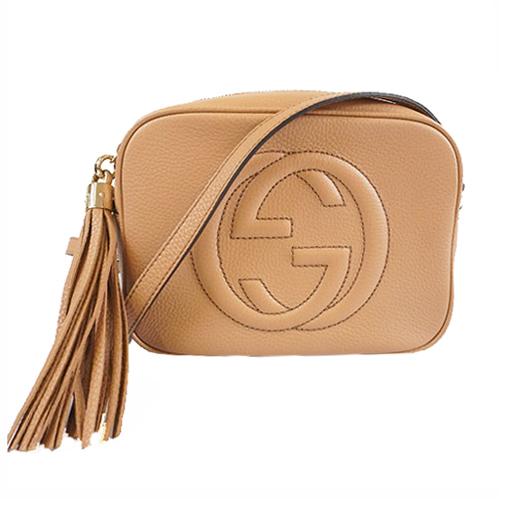 Auth Gucci Soho Shoulder Bag 308364 Women's Leather Shoulder Bag Beige