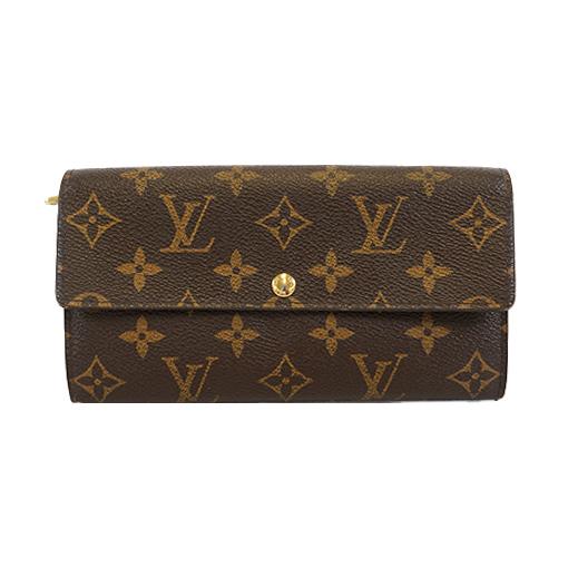 Auth Louis Vuitton Monogram M61734 Women's  Long Wallet (bi-fold)