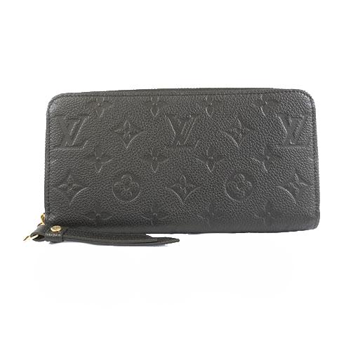 Auth Louis Vuitton Monogram Empreinte M60571 Women's  Long Wallet (bi-fold) Noir