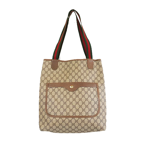 Auth Gucci Sherry Line Tote Bag 39 02 003 Women's GG Supreme Handbag,Tote Bag Beige