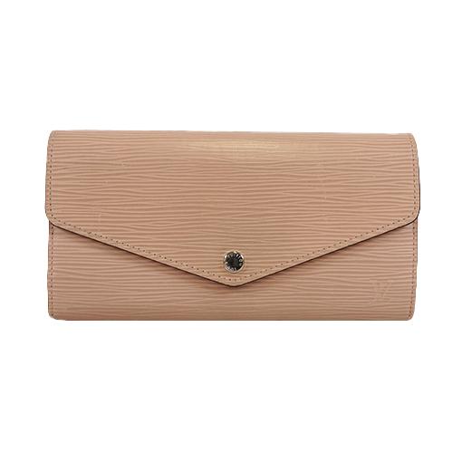 Auth Louis Vuitton Epi M60724 Women's  Long Wallet (bi-fold) Dune