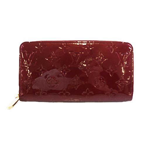 Auth Louis Vuitton Monogram Vernis M91536 Zippy Wallet Women's  Long Wallet (bi-fold) Rouge Fauviste
