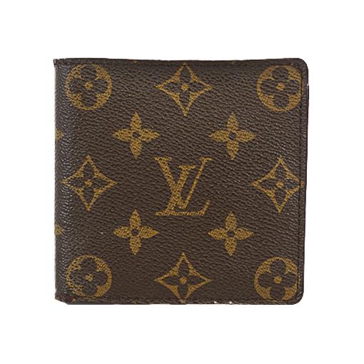 Auth Louis Vuitton Monogram Portofeuil Marco M61675 Men's Leather,Monogram Wallet (bi-fold) Monogram