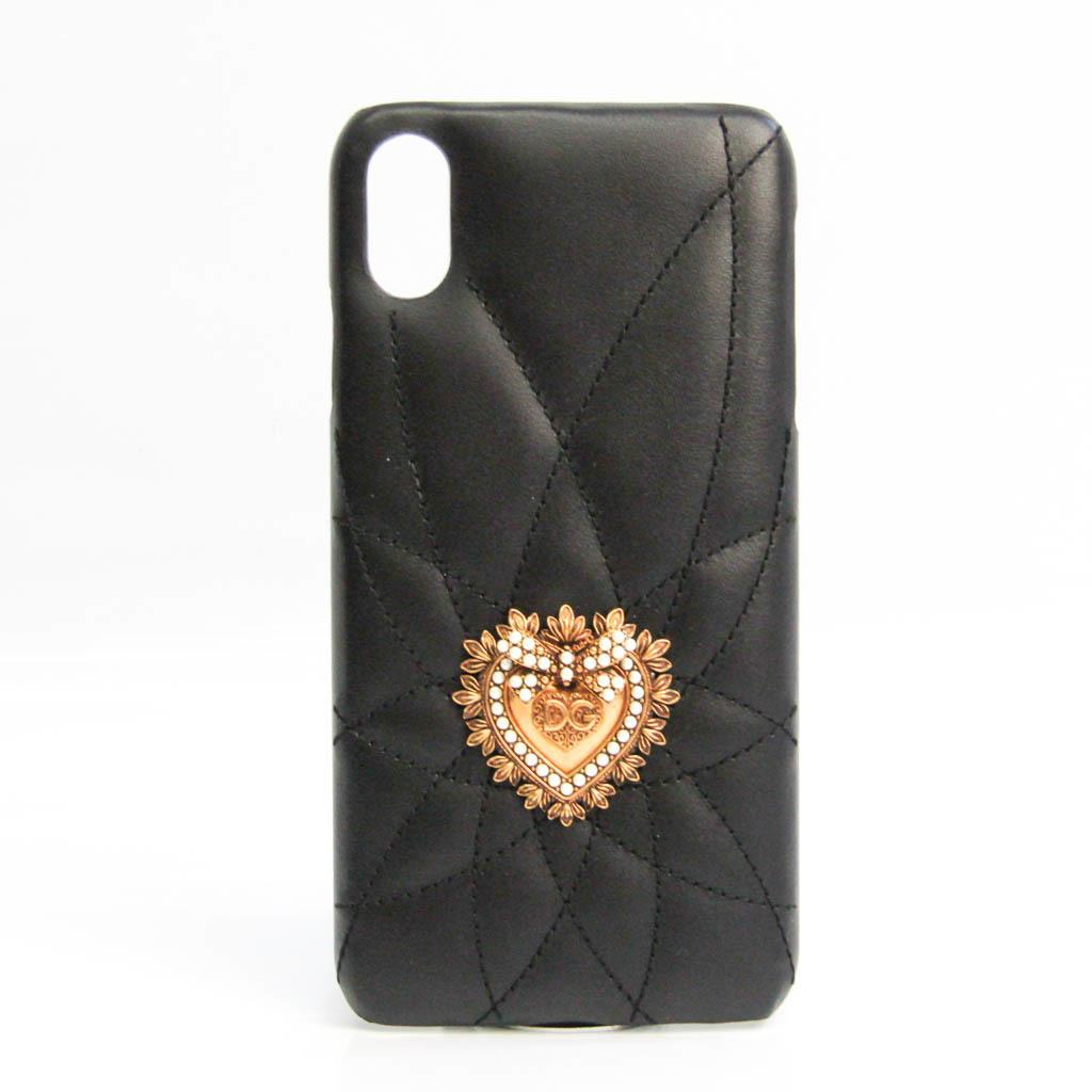 ドルチェ&ガッバーナ(Dolce & Gabbana) MATELASSE DEVOTION BI2533 レザー バンパー iPhone XS Max 対応 ブラック