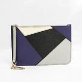Valextra Multi Case GAMPER G2L15 Unisex Leather Clutch Bag,Pouch Black,Gray,Off-white,Purple